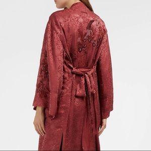 Elizabeth and James Rhubarb Satin Kimono Robe
